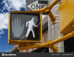 Walking Sign Light Pedestrian Walking Sign Traffic Light Stock Photo