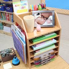 really good teacher s desktop organizer with paper holders