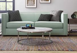 round metal coffee table placed
