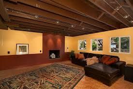 Pleasant Design Unfinished Basement Ceiling Painted Basement Ceiling