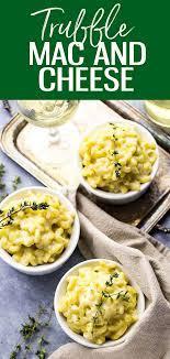 white cheddar truffle mac and cheese
