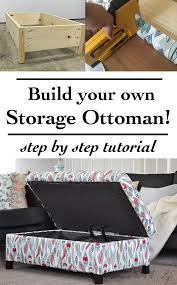 diy storage ottoman. Brilliant Ottoman Make Your Own DIY Upholstered Storage Ottoman  It Is Super Easy This  Tutorial Shows You How From Building The Frame To Upholstering It To Diy Storage Ottoman Pinterest