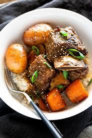 slow cooker korean short ribs my