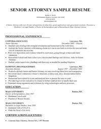 Corporate Attorney Resume Sample Resume Letters Job Application