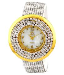 Designer Diamond Watches Pappi Boss Vintage White Shining Designer Diamond Studded Fancy Party Wear Leather Watch For Girls Women