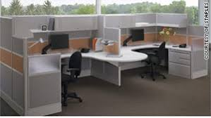 cubicle office space. cubicle furniture made of lighter materials and featuring lower walls are in high demand according office space