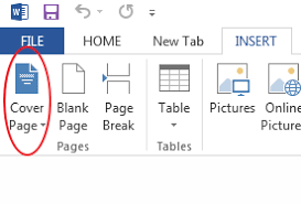 Make A Cover Page Online How To Create A Cover Page In Microsoft Word 2013
