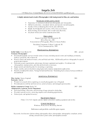 Photographer Resume Examples Free Resume Example And Writing