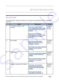 personal development plans sample top 5 free personal development plan templates word templates