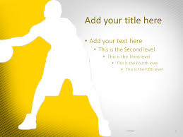 Basketball Powerpoint Template Basketball Powerpoint Template Yellow Presentationgo