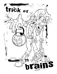 Halloween Zombie Coloring Pages At Getdrawingscom Free For
