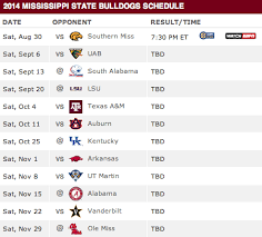 mississippi state 2016 football schedule mississippi state football auburn university schedule auburn tigers