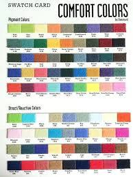 Comfort Colors Color Chart 2016 Beautiful Fort Colors Chart