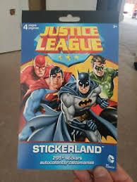 Details About 295 Dc Comics Justice League Stickers Party Favors Superman Batman Reward Chart
