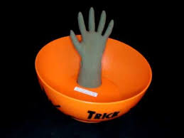 halloween candy bowl hand. Plain Candy Rare Gemmy Halloween Animatronic Prop Motion Witchs Hand Candy Dish Bowl Throughout D