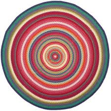 braided multi 6 ft x 6 ft round area rug