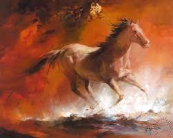 wild horses i painting willem haenraets wild horses i art print