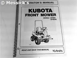 kubota gf parts gf1800 gf1800e owners manual