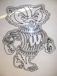 Bucky Badger Coloring Page Yahoo Image