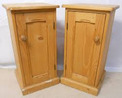 Pair Stripped Pine Bedside Cabinets - SOLD