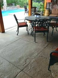 patio concrete stain stamped textured area with diamond scoring pattern outdoor pictures sta