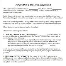 retainer consulting agreement download consulting retainer template bonsai