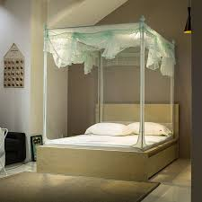 U anti mosquito cloth court mosquito net for double bed queen size adult bed canopy blue bed canopy-in Mosquito Net from Home & Garden on ...