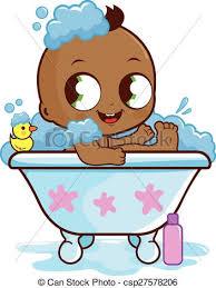 baby boy taking a bath csp27578206