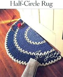 circle rugs uk area rug semicircle accent black and white half details about quick easy q hook crochet quarter circl