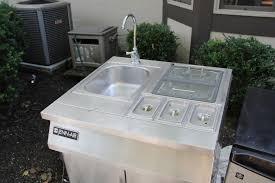 jenn air stainless steel sink cart