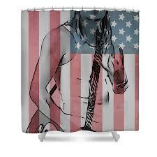 badass shower curtains. American Badass Shower Curtain Featuring The Digital Art By Dan Sproul Curtains