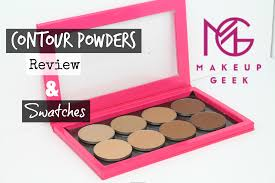 swatches review new makeup geek contour powders all 8 shades