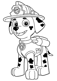 Paw Patrol Coloring Pages Rubble Coloringstar Paw Patrol Marshall