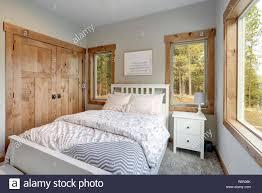 Kleine Aber Gemütliche Schlafzimmer Innenbereich Verfügt über
