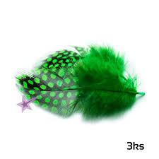 Peříčka Na Zdobení Nehtů Tmavě Zelená 3ks