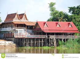 Thai House Designs Pictures Thai House Design Beside River Stock Photo Image Of