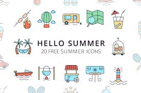 Summer Icons Summer Time Vector Free Icon Set Deszone Net