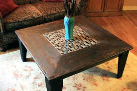 dark wood square coffee table large