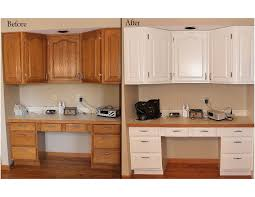 painting oak cabinets whitePainting Oak Cabinets White Before After  Pleasant Ideas Painting