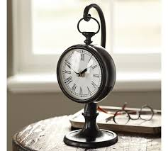 antique desk clock pendant pottery barn furnitures awesome vintage throughout 9