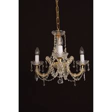 marie theresa 3 light crystal chandelier in gold finish cp00150 03 g