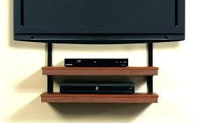 corner wall tv mount corner wall mount stand with shelf for player brown colored two tiered