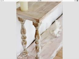 Sofa Table Diy White Washed Sofa Table With Reclaimed Balusters Furniture
