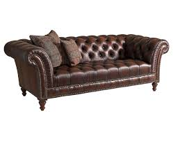 dark brown modern tufted leather sofa set with wooden legs pillow and wingback for modern living room furniture spaces ideas