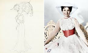 Mary Poppins Musical Costume Design First Sketches Of Mary Poppins Costume By Designer Emerge