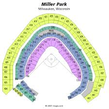 Miller Park Seating Chart Miller Park Seating Chart With Rows And Seat Numbers Best