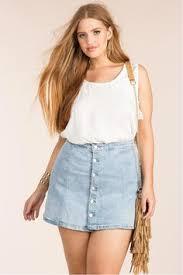 Plus size mini skirts: лучшие изображения (20) | Юбка, Юбки ...