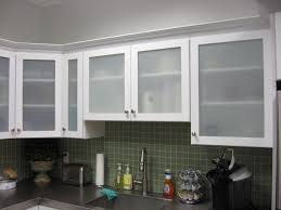 Kitchen Glass Cabinets In Kitchen Unbelievable Frosted Glass Kitchen