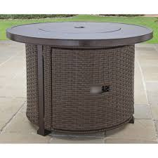 better homes and gardens gas fire pit outdoor fireplace bronze finish 37 inch