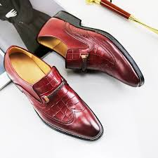 Online Shop Formal <b>Dress Shoes Men</b> Korean Style <b>Genuine</b> ...
